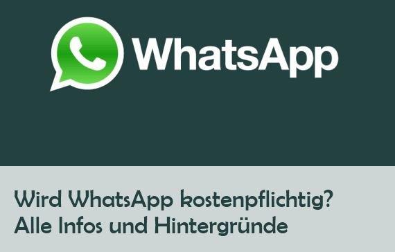 Soll Whatsapp Kostenpflichtig Werden