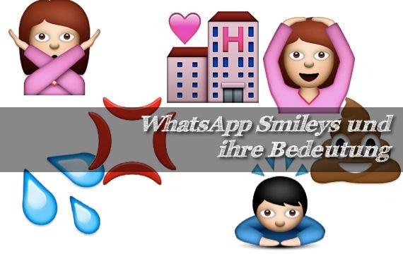 Zeichen whatsapp bedeutung Smileys Bedeutung