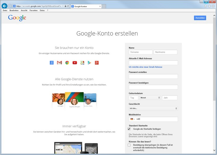 8505c69925ec22 youtube-anmelden-googlekonto-erstellen Zur Not kann man ein neues  Google-Konto erstellen