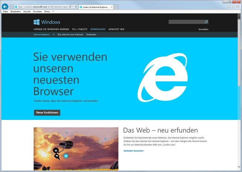 Keiner merkt, ob der MSIE wirklich ein 64-Bit-Browser ist