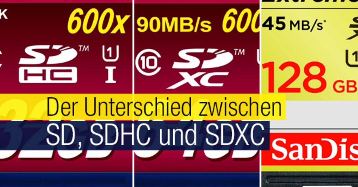 Sdxc Kartensteckplatz.Sd Sdhc Und Sdxc Unterschiede Und Vorteile Der Speicherkarten