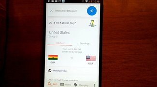 Google Now bietet Infos zur Fußball-WM 2014