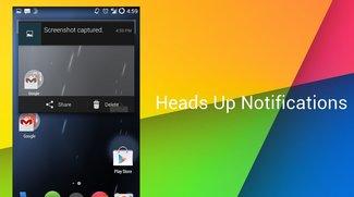 Heads Up Notifications: Benachrichtigungen im Fenster-Modus im AOSP gesichtet, in CM11 und via Xposed verfügbar