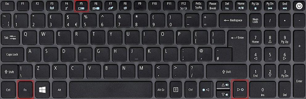 Laptop Bildschirm schwarz Acer FN-Tastatur