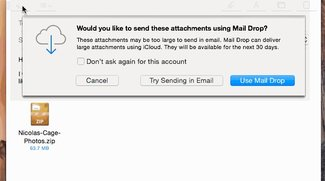Mail Drop in OS X Yosemite verwenden oder nicht verwenden?