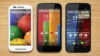 Motorola Moto X, G & E: Update auf Android 4.4.4 bestätigt