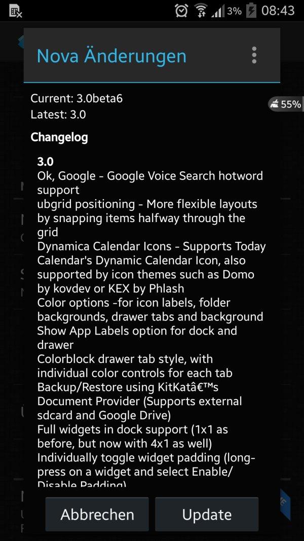 Nova Launcher Changelog