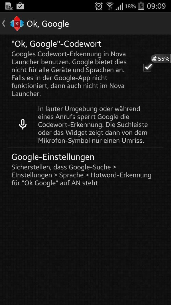 Nova-Launcher OK Google