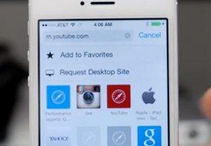 iOS 8 Safari (Screenshot aus YouTube-Video)