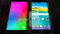 Samsung Galaxy F: Vergleichsfoto mit Galaxy S5 zeigt extrem dünnen Displayrahmen
