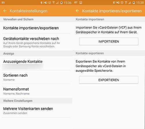 Mit vCards können iPhones und Android-Handys problemlos umgehen.