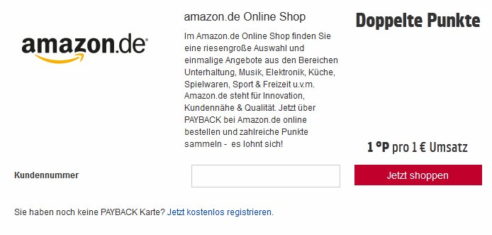 payback punkte bei amazon sammeln geht das giga. Black Bedroom Furniture Sets. Home Design Ideas