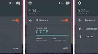 """Android 5.0 """"L"""": Verbesserte Quick Settings und Benachrichtigungen im Karten-Design [Gerücht]"""
