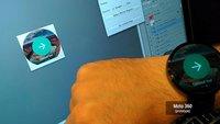 Smartwatches: Google zeigt gigantischen Moto 360-Prototypen, demonstriert Entwicklung für Android Wear