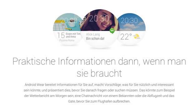 Android Wear: Erste Smartwatches und SDK in den nächsten Tagen verfügbar [Google I/O 2014]