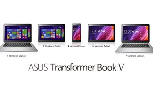 ASUS Transformer Book V: Dual OS-Laptop mit Android und Windows 8.1 per Trick