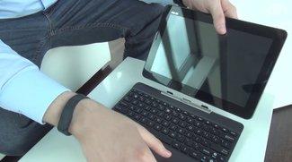 ASUS Transformer Pad TF303CL: 10 Zoll-Tablet mit 64 Bit-Chip und Tastatur-Dock im Hands-On-Video