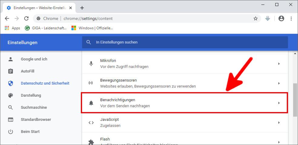 Chrome: Nervige Benachrichtigungen deaktivieren - so gehts