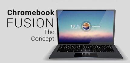 Chromebook Fusion-Konzept:  Android mit Chrome OS kombiniert