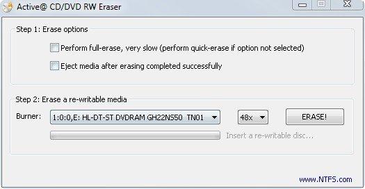 Eine DVD formatieren und nichts anderes kann dieses Tool