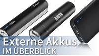 Powerbank, Akkupacks & USB-Ersatz-Akkus: Die besten externen Batterien im Vergleich [Übersicht]