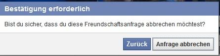 Nicht sichtbar freundschaftsanfrage facebook Polizei warnt