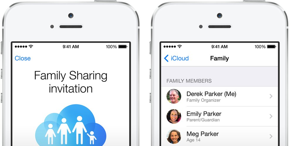 Family Sharing in iOS 8
