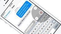"""iOS 8: Das ist die Nachrichten-App mit """"Tap to Talk"""""""