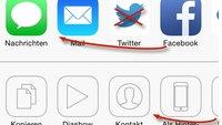 """iOS 8: Apps sortieren im """"Öffnen in""""-Fenster"""
