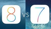 iOS 8 vs iOS 7: Designs im Vergleich