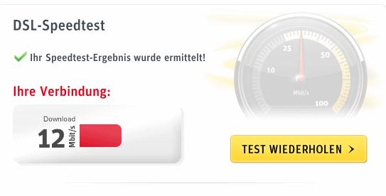 Mein Kabel Speedtest