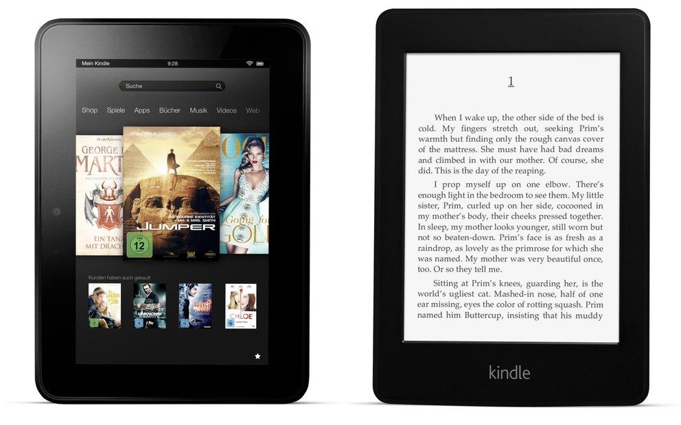 Kindle Fire HD 7.0 (32 GB) und Kindle Paperwhite 3G: Amazon-Tablet und eReader aktuell für je 99 Euro [Deal] Bild
