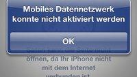 Mobiles Datennetzwerk konnte nicht aktiviert werden: Die Rettung