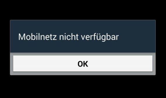 mobilnetz nicht verfügbar