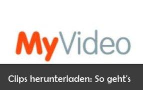 MyVideo: Videos herunterladen – So geht's