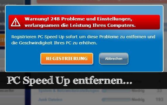 PC Speed Up entfernen - Die Malware sicher löschen