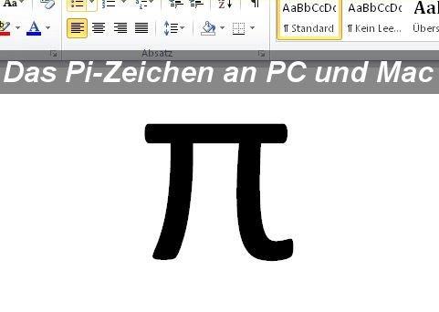 Das Pi-Zeichen schreiben an PC und Mac