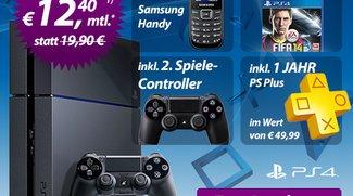 PlayStation 4 mit PSN Plus, Controller und FIFA 14 gratis zu Talkline Talk Easy 100-Tarif (2 x 12,40 €/Monat)