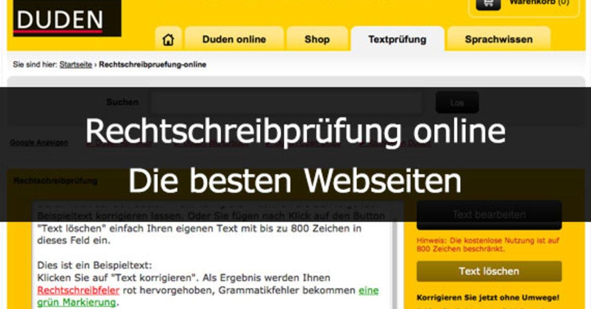 Rechtschreibprüfung Online Die Besten Webseiten Giga