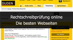 Rechtschreibprüfung online: Die besten Webseiten