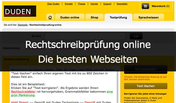grammatik und rechtschreibung prüfen online