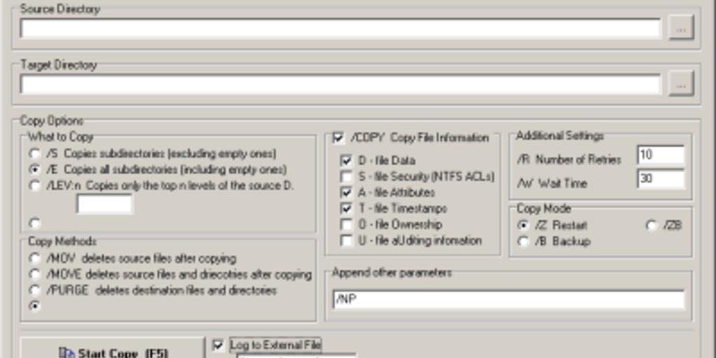 RoboCopy GUI Download