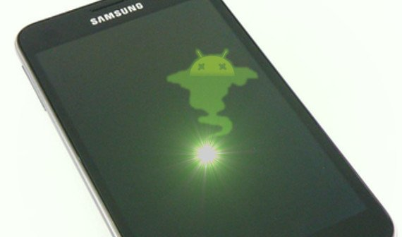 rote lampe samsung galaxy s3