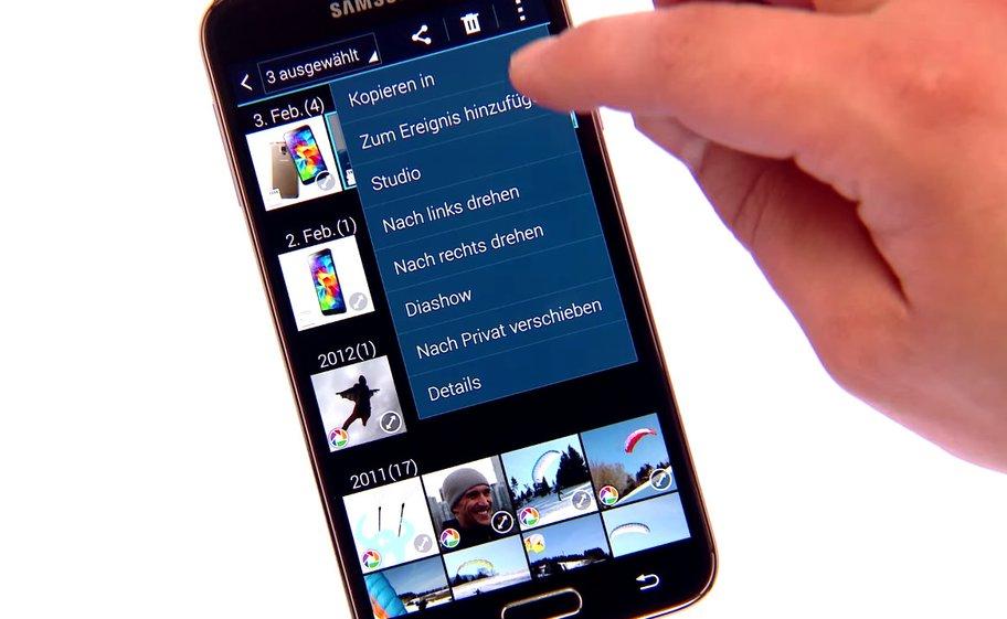 Samsung Galaxy S5: Verschiebt eure vertraulichen Daten einfach nach Privat, um sie zu verbergen