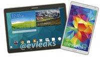 Samsung Galaxy Tab S 8.4 & 10.5: Pressebilder zeigen die Oberklasse-Tablets von allen Seiten