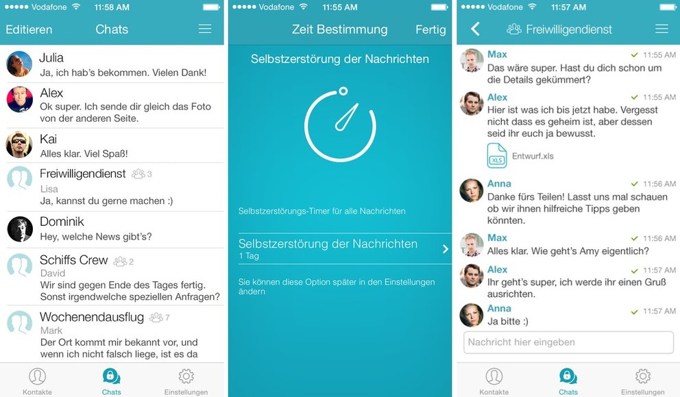 Messenger Sicher (iPhone, Android)