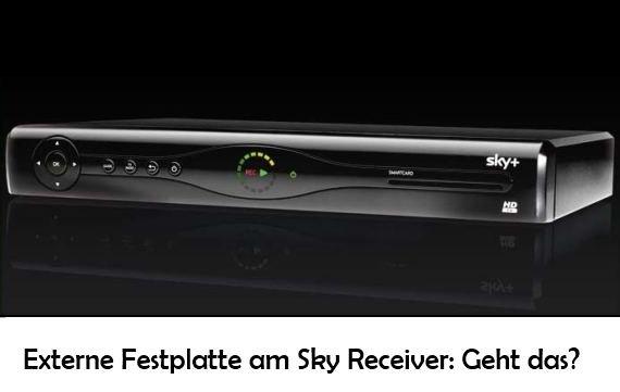 Kann man eine externe Festplatte an den Sky Receiver anschließen?