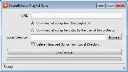 Soundcloud: Einfach URL eurer Playlist eintragen und Speicherort auswählen