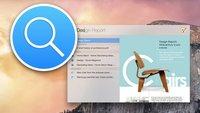 OS X 10.10 Yosemite und Spotlight: Das ist die neue Suche (Überblick)