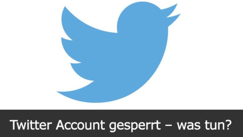 Twitter Account Gesperrt